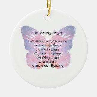 平静の祈りの言葉の蝶2 セラミックオーナメント