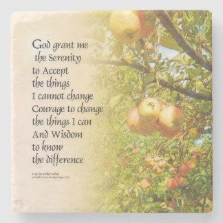 平静の祈りの言葉のAppleの枝 ストーンコースター