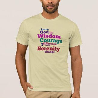 平静の祈りの言葉のwordleのTシャツ Tシャツ