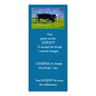 平静の祈りの言葉: 牛: 絵を描く芸術 ラックカード