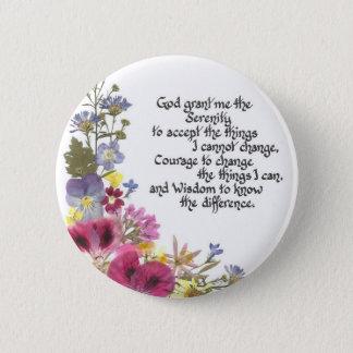 平静の祈りの言葉 5.7CM 丸型バッジ