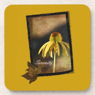 平静のEchinaceaの花柄 コースター