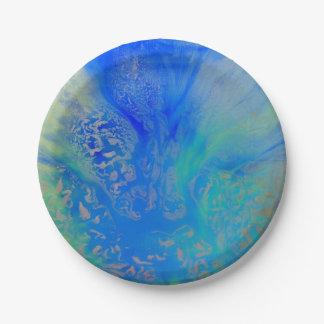 平静は紙皿の抽象デザインに水をまきます ペーパープレート