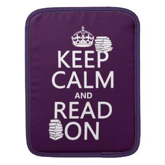 平静をで読まれて保てば(あらゆる色で) iPadスリーブ