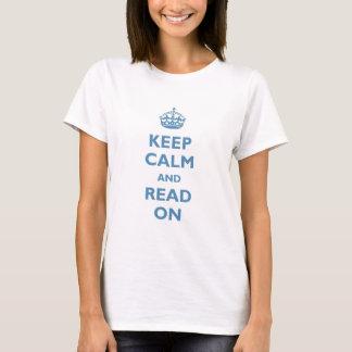 平静をで読まれて保てば(青) Tシャツ