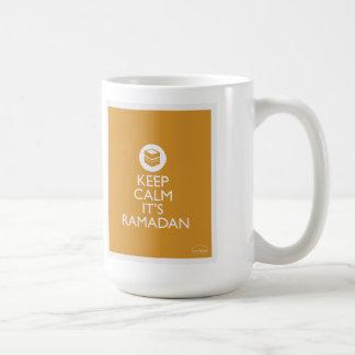 平静をラマダーン金ゴールド保って下さい コーヒーマグカップ