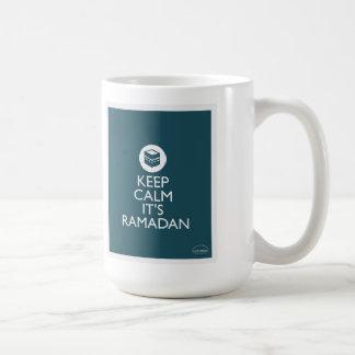 平静をラマダーン青い保って下さい コーヒーマグカップ