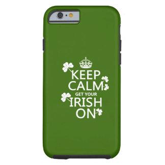 平静を保ち、あなたのアイルランド語をの得て下さい(どのbckgrd色でも) ケース