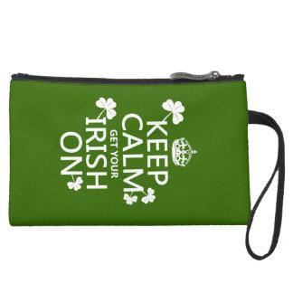 平静を保ち、あなたのアイルランド語をの得て下さい(どのbckgrd色でも) スエードクラッチ