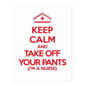 平静を保ち、あなたのズボンを脱いで下さい ポストカード
