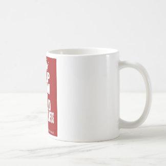 平静を保ち、あなたのビジネスを造って下さい コーヒーマグカップ