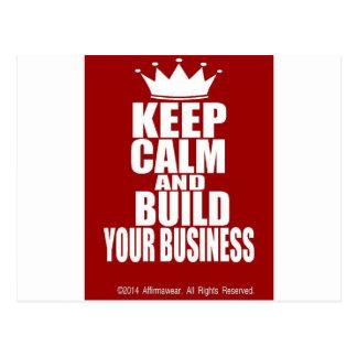 平静を保ち、あなたのビジネスを造って下さい ポストカード