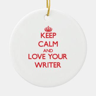 平静を保ち、あなたの作家を愛して下さい セラミックオーナメント