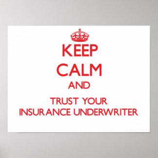 平静を保ち、あなたの保険業者を信頼して下さい ポスター
