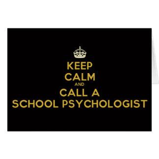 平静を保ち、あなたの学校Psychを呼んで下さい。 メッセージカード カード