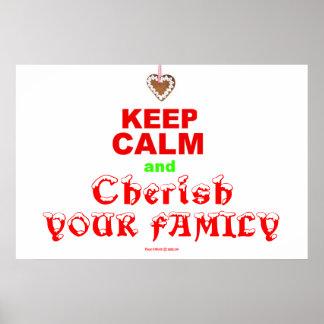 """""""平静を保ち、あなたの家族""""のメリークリスマス大事にして下さい ポスター"""