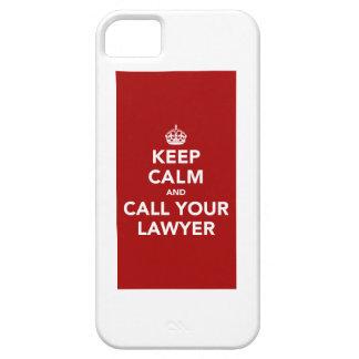 平静を保ち、あなたの弁護士を電話して下さい iPhone SE/5/5s ケース