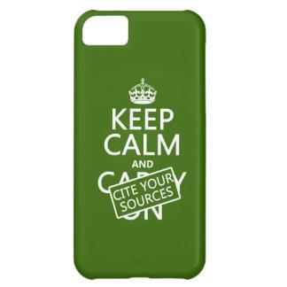 平静を保ち、あなたの源を引用して下さい(あらゆる色で) iPhone5Cケース