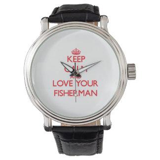 平静を保ち、あなたの漁師を愛して下さい 腕時計