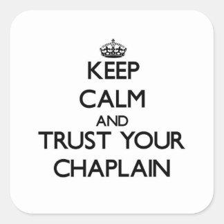 平静を保ち、あなたの牧師を信頼して下さい スクエアシール