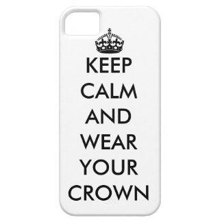 平静を保ち、あなたの王冠のiPhone 5の場合を身に着けて下さい iPhone SE/5/5s ケース