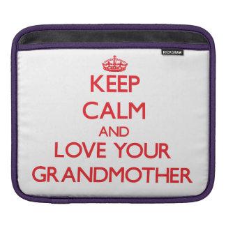 平静を保ち、あなたの祖母を愛して下さい iPadスリーブ