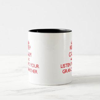 平静を保ち、あなたの祖父に聞いて下さい ツートーンマグカップ