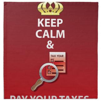 平静を保ち、あなたの税のベクトルを支払って下さい ナプキンクロス