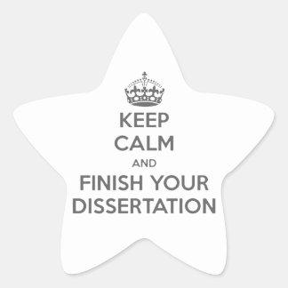 平静を保ち、あなたの論文を終えて下さい 星シール