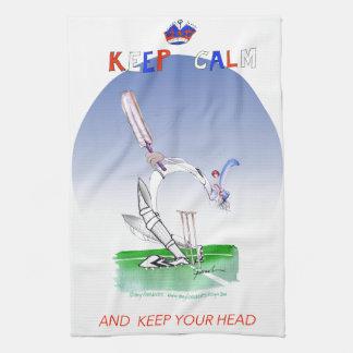 平静を保ち、あなたの頭部、贅沢なfernandesを保って下さい キッチンタオル
