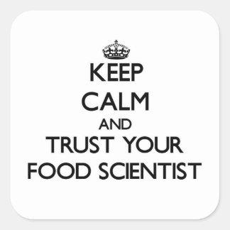 平静を保ち、あなたの食糧科学者を信頼して下さい スクエアシール