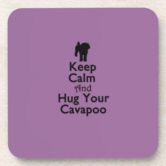 平静を保ち、あなたのCavapooを抱き締めて下さい コースター