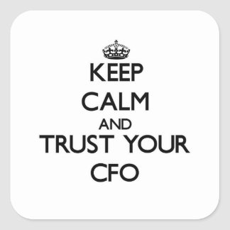 平静を保ち、あなたのCfoを信頼して下さい スクエアシール