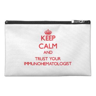 平静を保ち、あなたのImmunohematologistを信頼して下さい トラベルアクセサリーバッグ