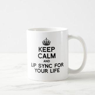 平静を保ち、あなたのLIFE.pngのために口を合わせて下さい コーヒーマグカップ