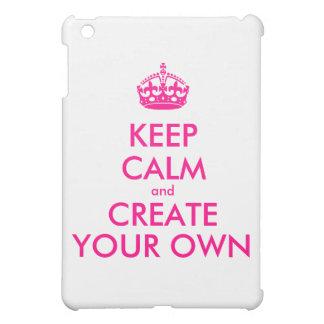 平静を保ち、あなた専有物を-ピンク作成して下さい iPad MINIケース