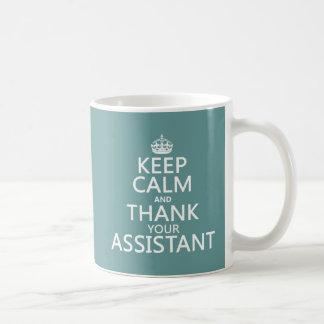平静を保ち、-あらゆる色の…あなたの助手を感謝していして下さい コーヒーマグカップ