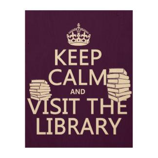 平静を保ち、-あらゆる色の…図書館を訪問して下さい ウッドウォールアート