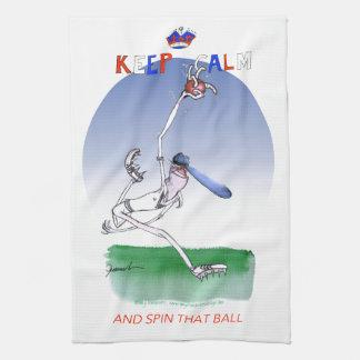 平静を保ち、その球、贅沢なfernandesを回して下さい キッチンタオル
