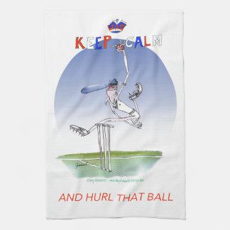 平静を保ち、その球、贅沢なfernandesを投げつけて下さい キッチンタオル