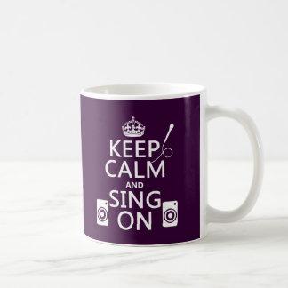 平静を保ち、で歌って下さい(カラオケ) コーヒーマグカップ