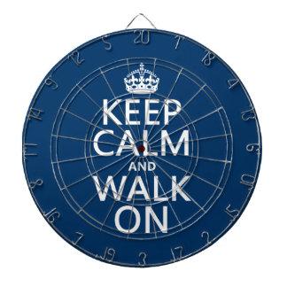 平静を保ち、で歩かせて下さい(どの背景色でも) ダーツボード
