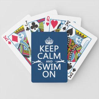 平静を保ち、で泳いで下さい(あらゆる色で) バイスクルトランプ