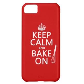 平静を保ち、で焼いて下さい(料理) (色をカスタマイズ) iPhone5Cケース