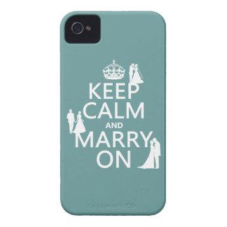 平静を保ち、で結婚して下さい(どの色の背景でも) Case-Mate iPhone 4 ケース