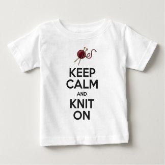 平静を保ち、で編んで下さい(ライト) ベビーTシャツ