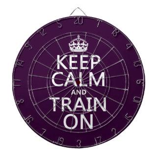 平静を保ち、で訓練して下さい(カスタマイズ可能な色) ダーツボード