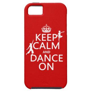 平静を保ち、で踊って下さい(すべての色で) iPhone SE/5/5s ケース