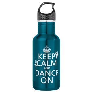 平静を保ち、で踊って下さい(バレエ) (すべての色) ウォーターボトル