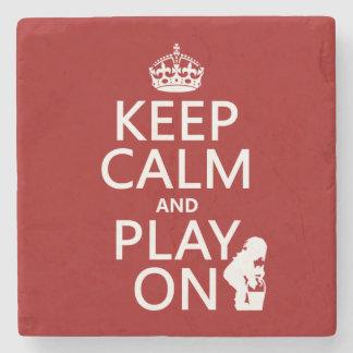 平静を保ち、で遊んで下さい(どの色でも) ストーンコースター